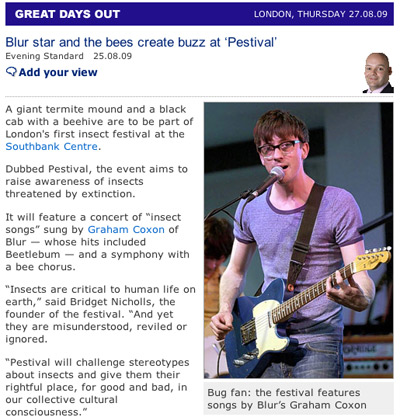 Evening Standard on Pestival